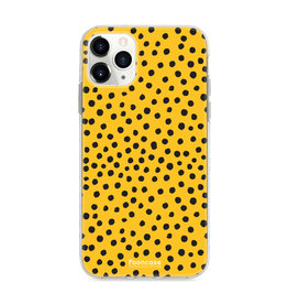 FOONCASE IPhone 11 Pro Max - POLKA COLLECTION / Oker Geel