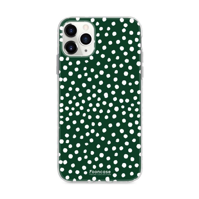 FOONCASE IPhone 11 Pro Max - POLKA COLLECTION / Dark green