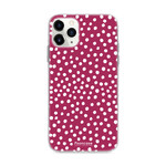 FOONCASE IPhone 11 Pro Max - POLKA COLLECTION / Bordeaux Rood