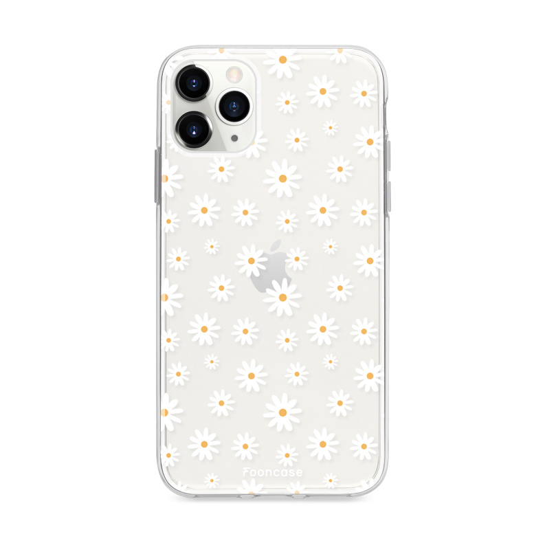 FOONCASE iPhone 11 Pro Max hoesje TPU Soft Case - Back Cover - Madeliefjes