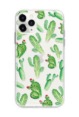 FOONCASE iPhone 11 Pro Max hoesje TPU Soft Case - Back Cover - Cactus