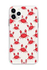 FOONCASE iPhone 11 Pro Max hoesje TPU Soft Case - Back Cover - Crabs / Krabbetjes / Krabben