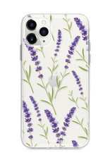 FOONCASE iPhone 11 Pro Max hoesje TPU Soft Case - Back Cover - Purple Flower / Paarse bloemen