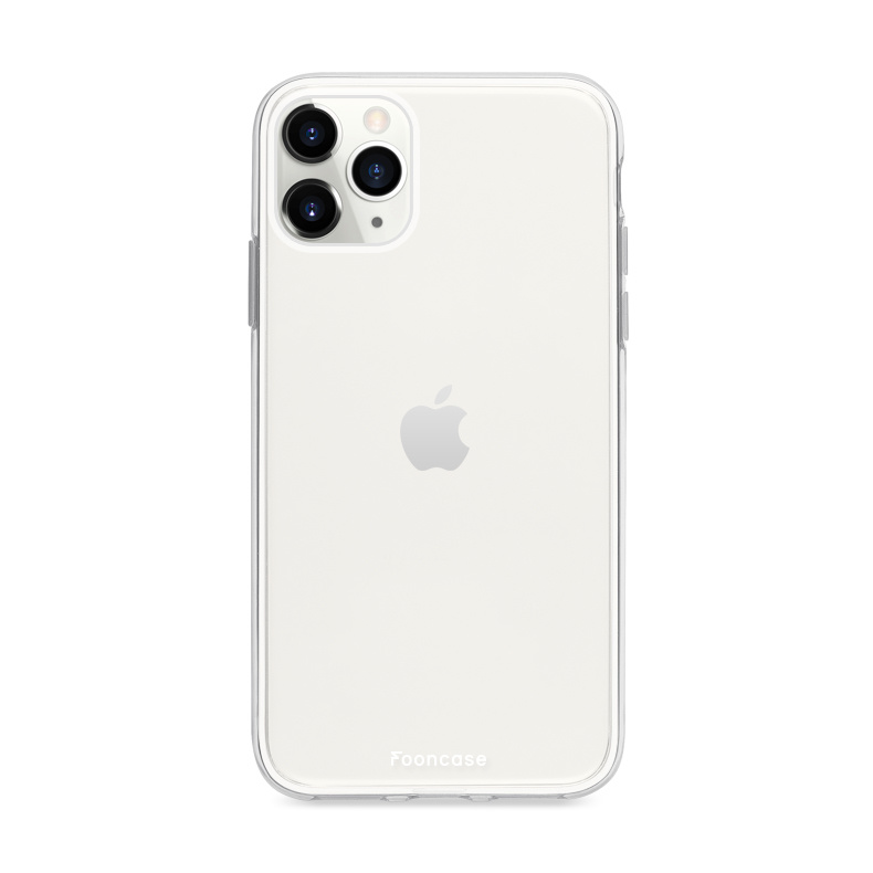 FOONCASE iPhone 11 Pro Max hoesje TPU Soft Case - Back Cover - Transparant / Doorzichtig