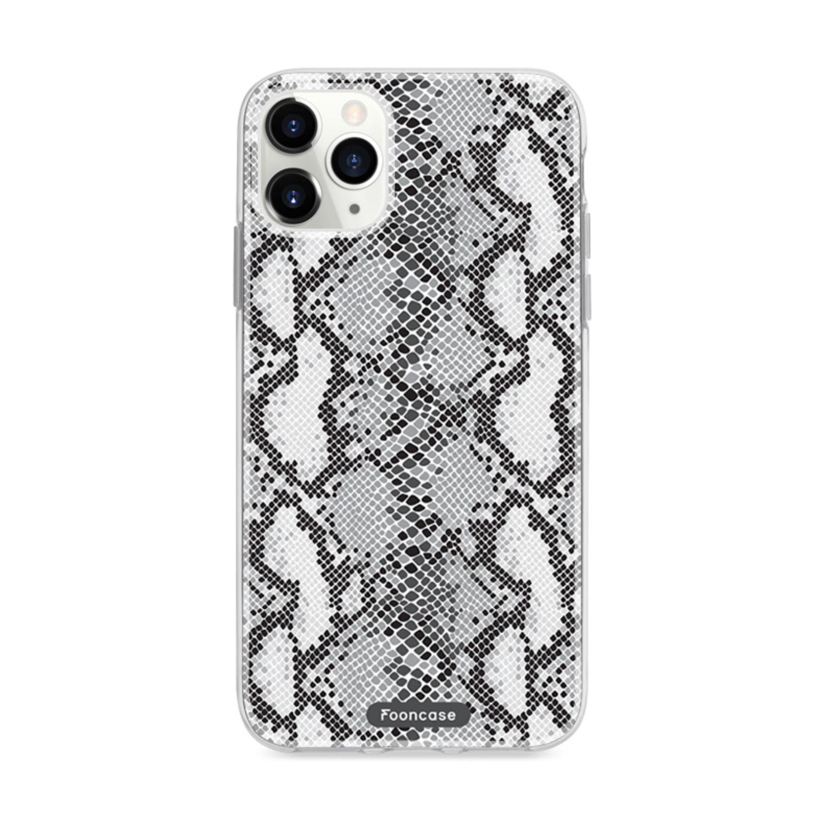 FOONCASE iPhone 11 Pro hoesje TPU Soft Case - Back Cover Ð Snake it / Slangen print