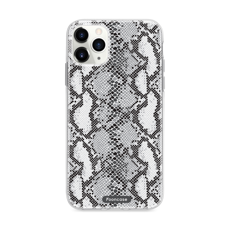 FOONCASE iPhone 11 Pro hoesje TPU Soft Case - Back Cover Ð Snake it / Slangen print