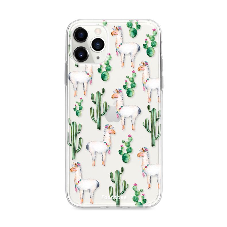 FOONCASE iPhone 11 Pro hoesje TPU Soft Case - Back Cover - Alpaca / Lama
