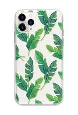 FOONCASE iPhone 11 Pro hoesje TPU Soft Case - Back Cover - Banana leaves / Bananen bladeren