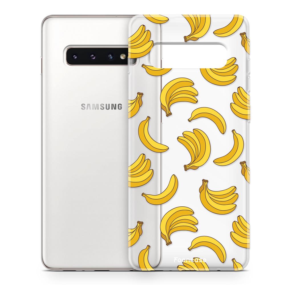 FOONCASE Samsung Galaxy S10 Handyhülle - Bananas