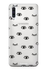 Samsung Galaxy A70 hoesje TPU Soft Case - Back Cover - Eyes / Ogen