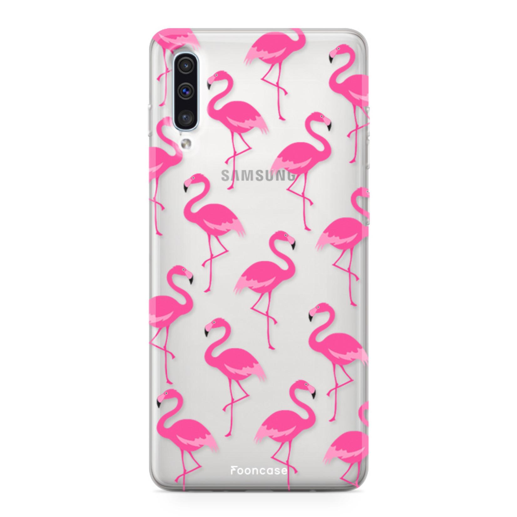 Samsung Galaxy A70 hoesje TPU Soft Case - Back Cover -  Flamingo