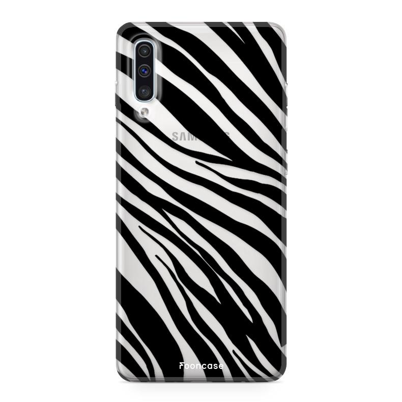 Samsung Galaxy A70 hoesje TPU Soft Case - Back Cover - Zebra print