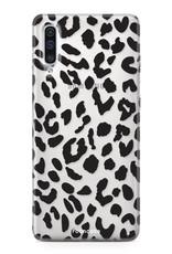 Samsung Galaxy A70 hoesje TPU Soft Case - Back Cover - Luipaard / Leopard print