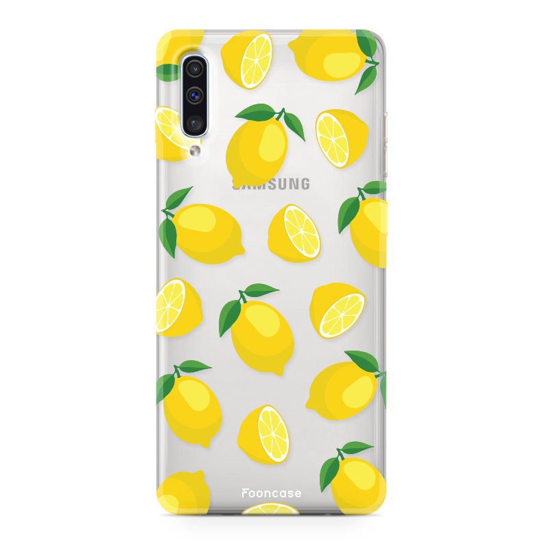 Samsung Galaxy A70 hoesje TPU Soft Case - Back Cover - Lemons / Citroen / Citroentjes