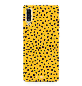 Samsung Galaxy A70 - POLKA COLLECTION / Oker Geel