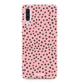 Samsung Galaxy A70 - POLKA COLLECTION / Roze