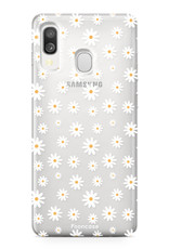 Samsung Galaxy A40 hoesje TPU Soft Case - Back Cover - Madeliefjes