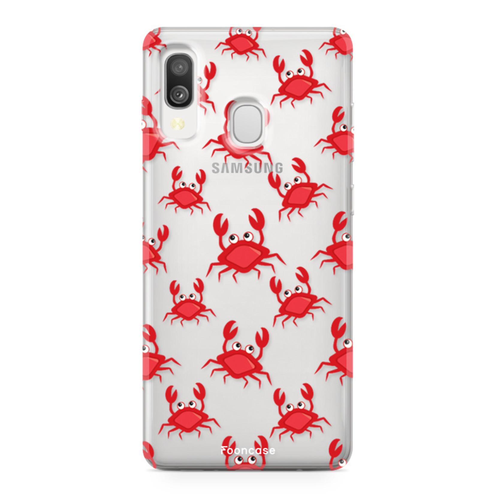 Samsung Galaxy A40 hoesje TPU Soft Case - Back Cover - Crabs / Krabbetjes / Krabben