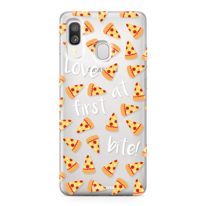 Samsung Galaxy A40 hoesje TPU Soft Case - Back Cover - Pizza / Food