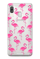 Samsung Galaxy A40 hoesje TPU Soft Case - Back Cover - Flamingo