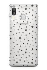 Samsung Galaxy A40 hoesje TPU Soft Case - Back Cover - Stars / Sterretjes