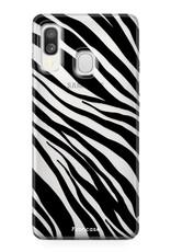 Samsung Galaxy A40 hoesje TPU Soft Case - Back Cover - Zebra print