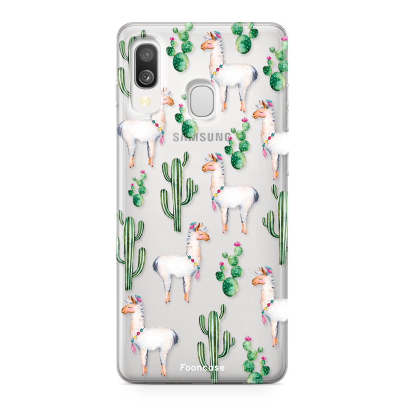 Samsung Galaxy A40 hoesje TPU Soft Case - Back Cover - Alpaca / Lama