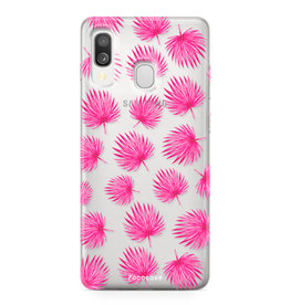 Samsung Galaxy A40 - Pink leaves