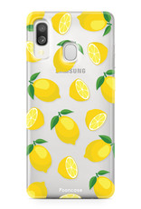 Samsung Galaxy A40 hoesje TPU Soft Case - Back Cover - Lemons / Citroen / Citroentjes