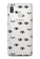 Samsung Galaxy A40 hoesje TPU Soft Case - Back Cover - Eyes / Ogen