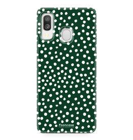 Samsung Galaxy A40 - POLKA COLLECTION / Dark green