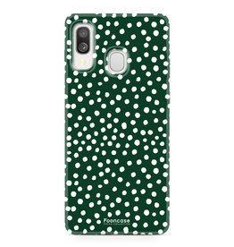 Samsung Galaxy A40 - POLKA COLLECTION / Donker Groen