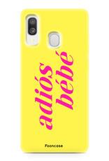 Samsung Galaxy A40 hoesje TPU Soft Case - Back Cover - Adios Bebe / Geel & Roze