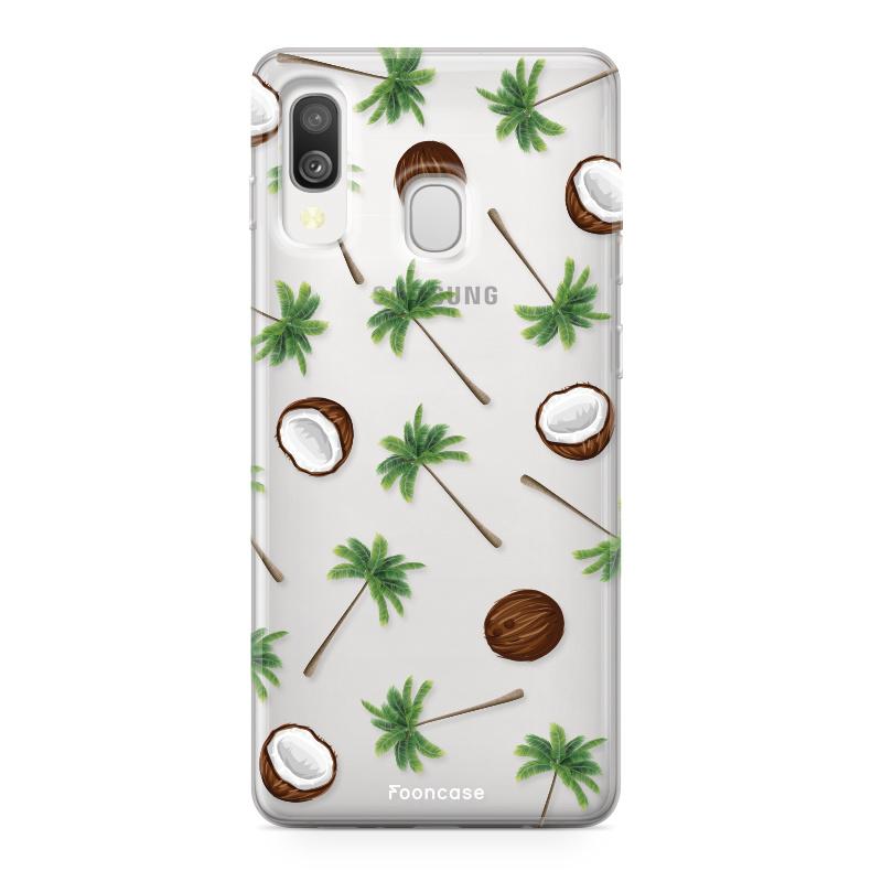 Samsung Galaxy A40 hoesje TPU Soft Case - Back Cover - Coco Paradise / Kokosnoot / Palmboom