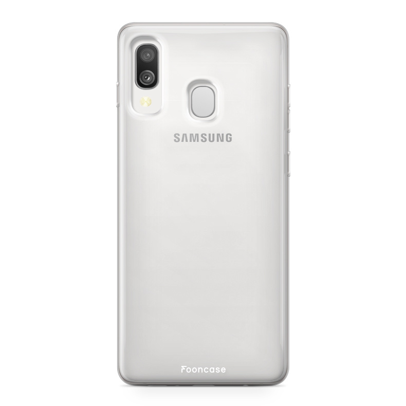 Samsung Galaxy A40 hoesje TPU Soft Case - Back Cover - Transparant / Doorzichtig