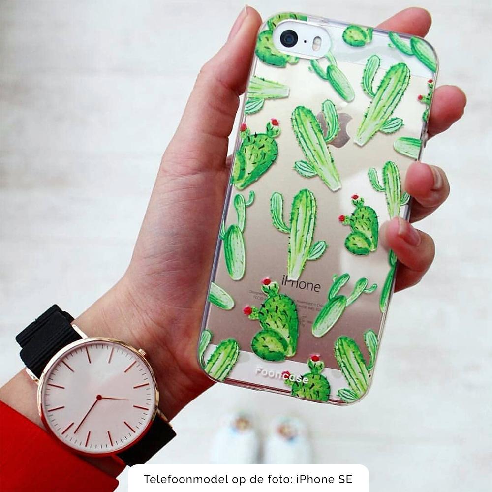 FOONCASE iPhone 6 Plus hoesje TPU Soft Case - Back Cover - Cactus