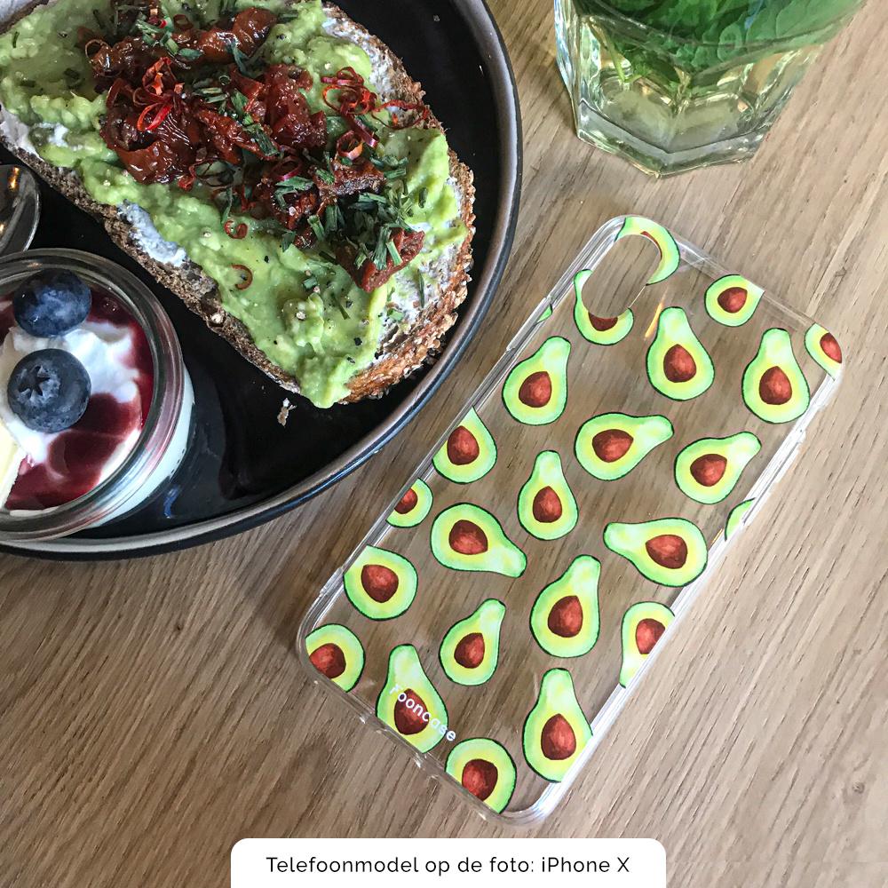 FOONCASE Samsung Galaxy S8 Plus hoesje TPU Soft Case - Back Cover - Avocado