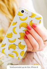 FOONCASE iPhone 7 Plus hoesje TPU Soft Case - Back Cover - Bananas / Banaan / Bananen