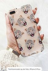 FOONCASE iPhone 6 / 6S hoesje TPU Soft Case - Back Cover - Cheeky Leopard / Luipaard hoofden