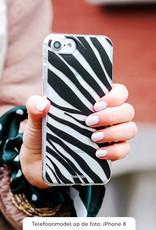 FOONCASE iPhone 8 Plus hoesje TPU Soft Case - Back Cover - Zebra print