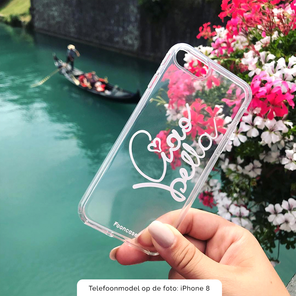 FOONCASE iPhone 8 Plus hoesje TPU Soft Case - Back Cover - Ciao Bella!
