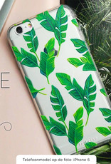 FOONCASE iPhone X hoesje TPU Soft Case - Back Cover - Banana leaves / Bananen bladeren