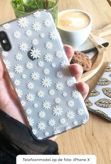 FOONCASE iPhone X hoesje TPU Soft Case - Back Cover - Madeliefjes