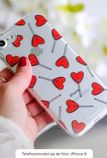 FOONCASE iPhone 6 Plus hoesje TPU Soft Case - Back Cover - Love Pop