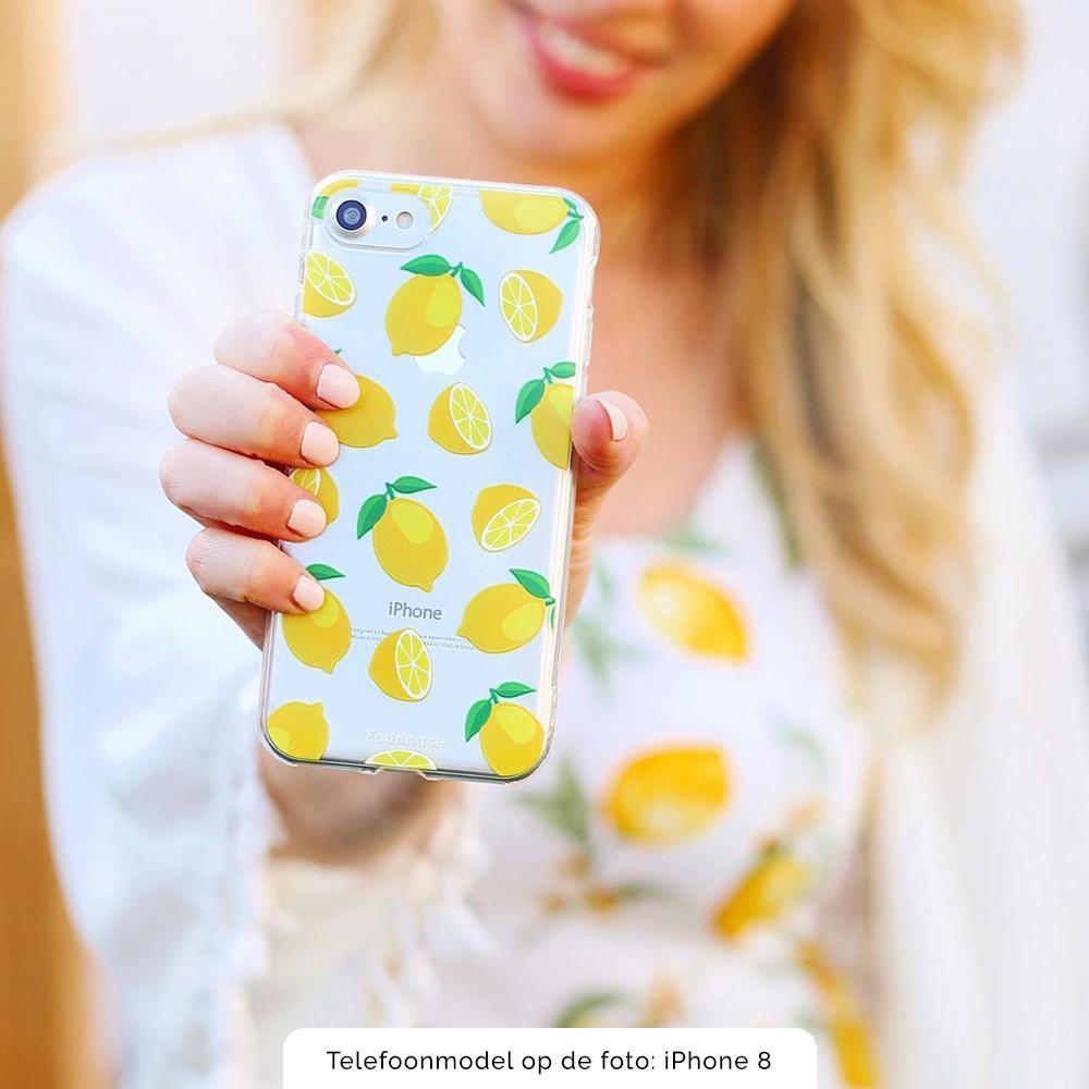 FOONCASE iPhone 7 hoesje TPU Soft Case - Back Cover - Lemons / Citroen / Citroentjes
