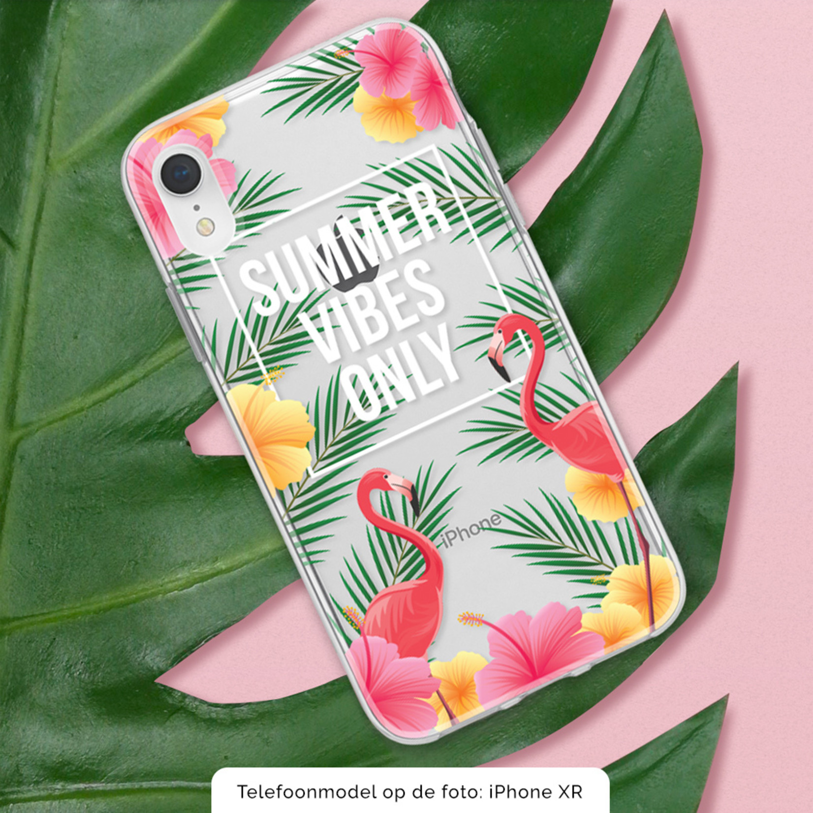 FOONCASE iPhone 6 Plus hoesje TPU Soft Case - Back Cover - Summer Vibes Only