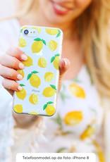 FOONCASE Samsung Galaxy S7 Edge hoesje TPU Soft Case - Back Cover - Lemons / Citroen / Citroentjes