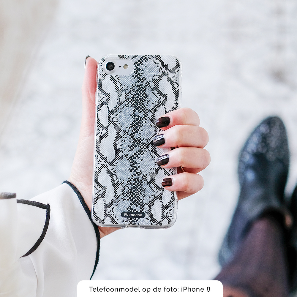 FOONCASE iPhone 8 Plus hoesje TPU Soft Case - Back Cover - Snake it / Slangen print