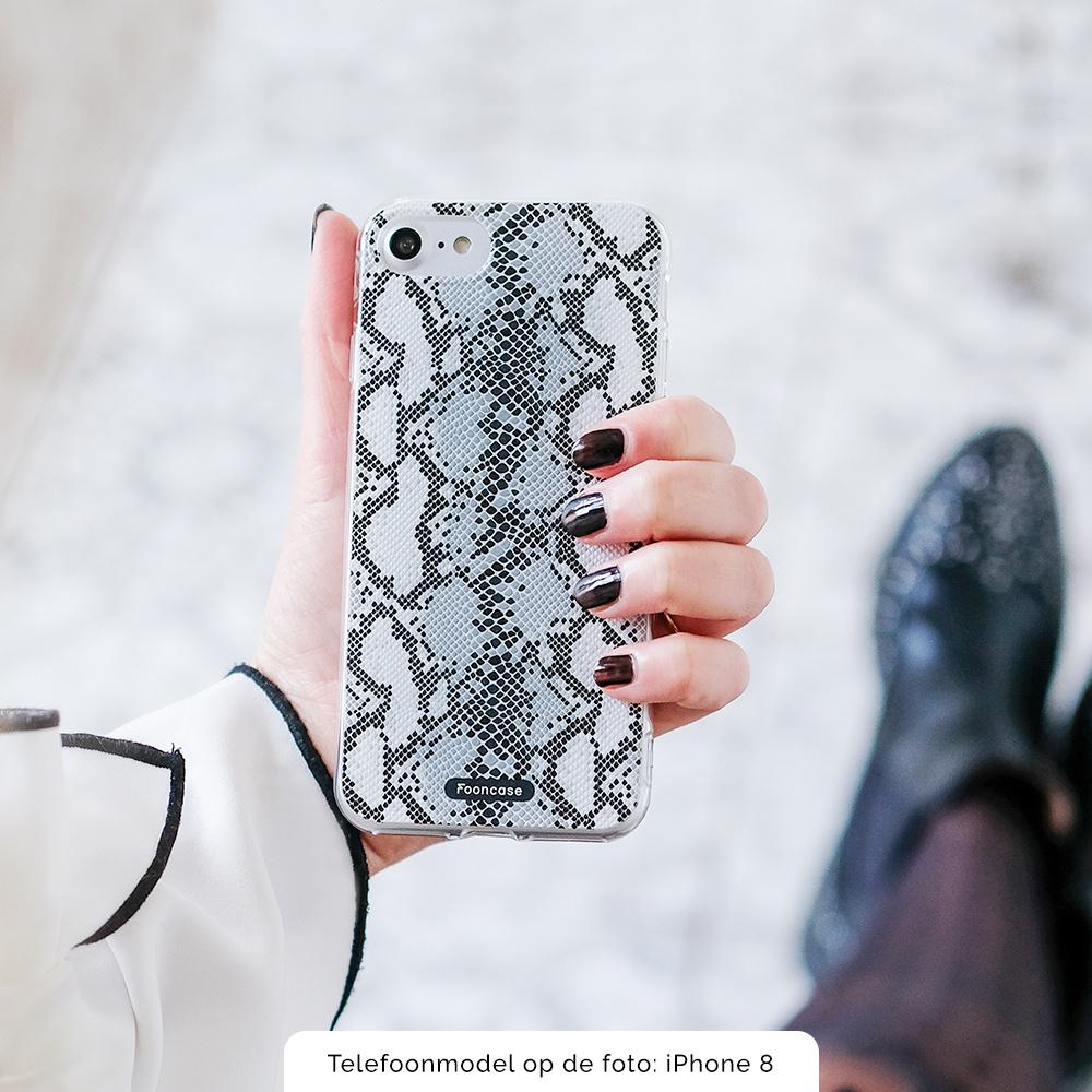 FOONCASE Samsung Galaxy A8 2018 hoesje TPU Soft Case - Back Cover - Snake it / Slangen print