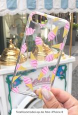 FOONCASE Huawei P10 hoesje TPU Soft Case - Back Cover - Ice Ice Baby / Ijsjes / Roze ijsjes